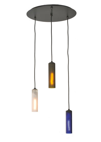 "Cabin Style Ceiling Lights Meyda 99435 - 16""W Venice 3 LT Wine Bottle Cascading Pendant Light"