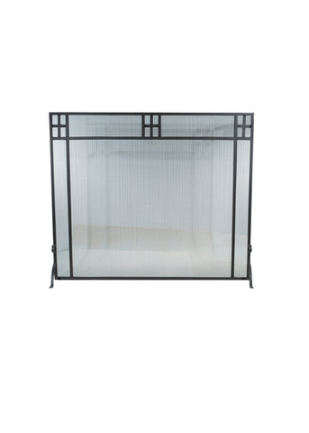 "Modern Country Fireplace Screens Meyda 99442 - 53""W X 45""H Prairie Fireplace Screen"