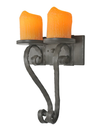 "Rustic Farmhouse Style Wall Sconce Lighting Meyda 99467 - 12""W Carpathian 2 Arm Wall Sconce"