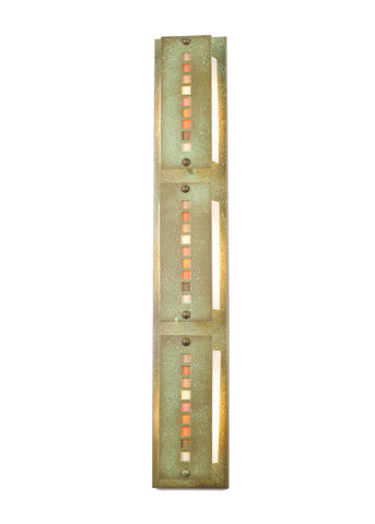 "Rustic Log Cabin Style Wall Sconce Lighting Meyda 99516 - 36""W Moss Creek Stepping Stone 3 LT Vanity Light"