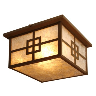 Lake House Light Fixtures - Steel Partners Lighting 9964 - Squaroka Ceiling Mount - Prairie