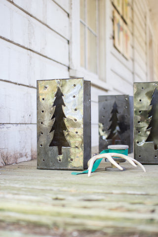 Tin Bag Christmas Tree Luminary