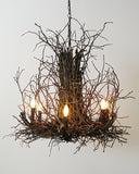 A Wish Designs USA Appalachian Hickory Branch Twig Chandelier - 36D6H36