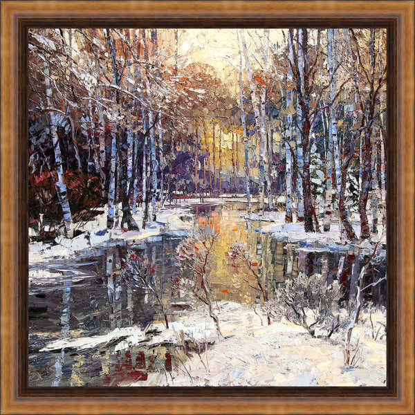 Winter's Peace Wall Art 29.25 x 29.25 inch framed size (approximately)