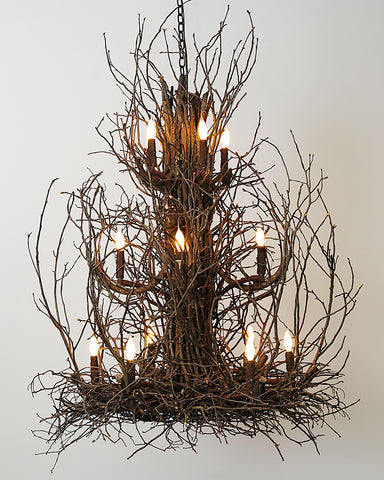 Wish Designs USA Bryce Andrew Hickory Large Twig Branch Chandelier