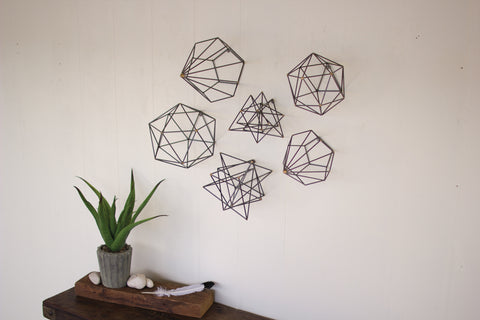 Set Of Six Geometric Orb Wall Art
