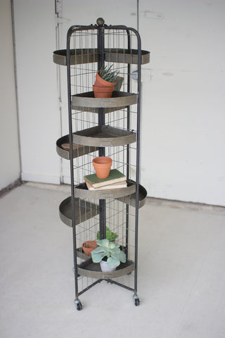 Four Sided Display With Casters