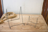 Wire Easel With Raw Metal Finish - Large