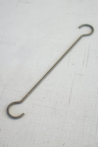 "Set Of Twelve Long Wire ""S"" Hooks Long"