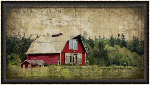 Widby's Barn III Wall Art 18 x 32 inch framed size (approximately)