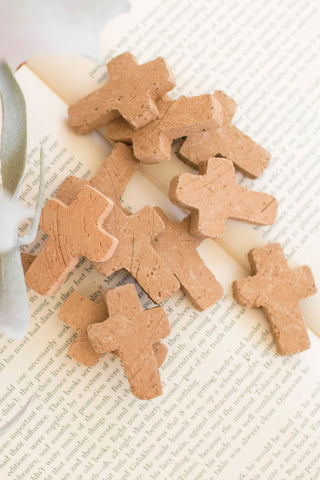Bag Of 12 Clay Crosses