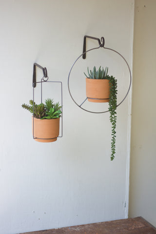 Hanging Natural Clay Planter