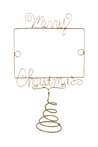 Wire Photo Holder-Merry Christmas