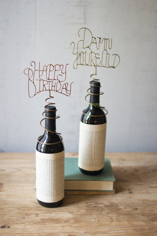Wine Bottle Topper-Happy Birthday