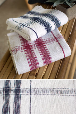 Cotton Blanket Of Table Cloth-Navy Stripe