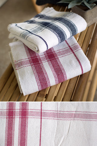 Cotton Blanket Of Table Cloth-Red Stripe