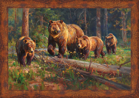 WILDERNESS MATRIARCH Wall Art 35.5 x 50.5 inch framed size (approximately)