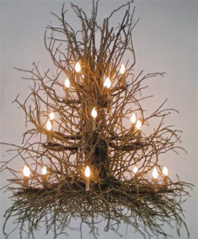 A Wish Designs USA Timberbrook Hickory Twig Chandelier   72D20T3H85