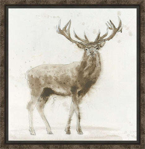 Stag v.2 Wall Art 26.75 x 26.75 inch framed size (approximately)
