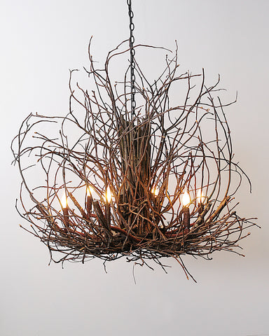 A Wish Designs USA Wildwood Hickory Branch Twig Chandelier - 46D6H46