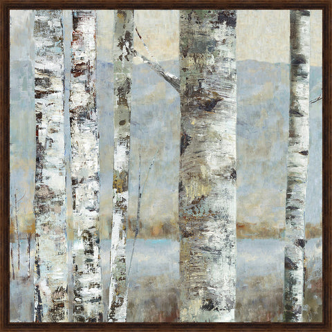 Winter Birch II Wall Art 26.5 x 26.5 inch framed size (approximately)