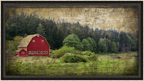 Widby's Barn I Wall Art 18 x 32 inch framed size (approximately)