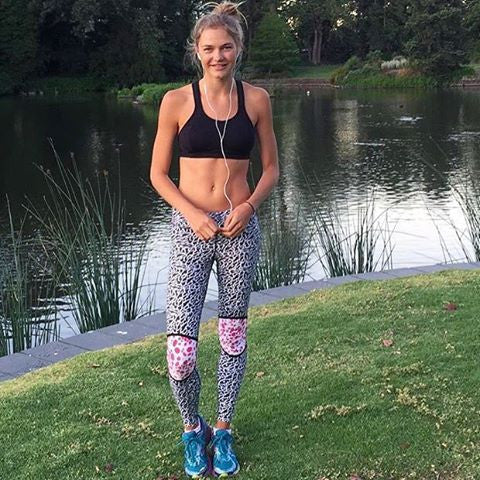 @ellielemons wears lilybod legging activewear FRANKIE - Watermelon Splash