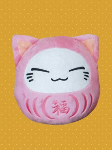 Nemuneko Daruma Sleeping Pink Cat Plush