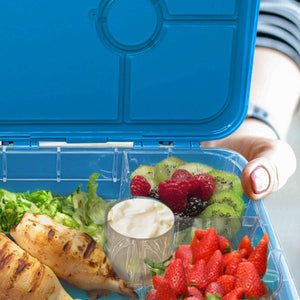 Frosted Bluel Lunch Box with 4 Compartments