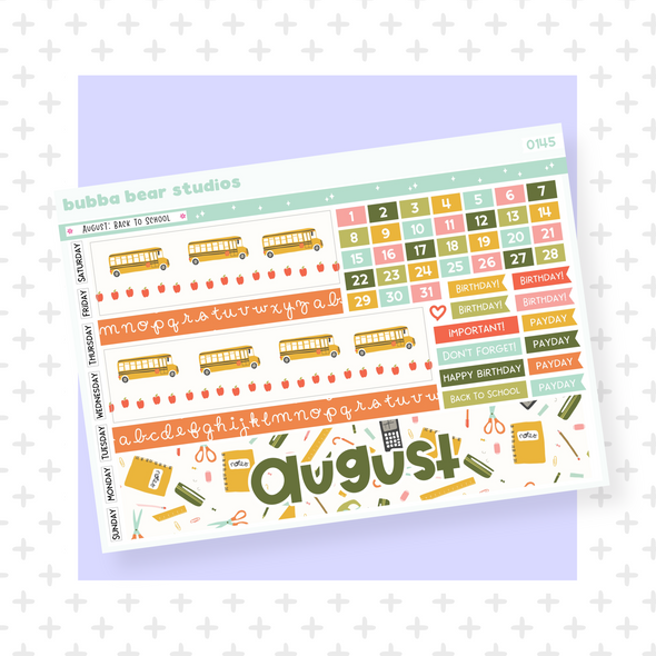 August - Back To School - PP B6