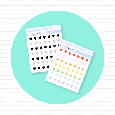 Heart Bullets - Mini Sheet