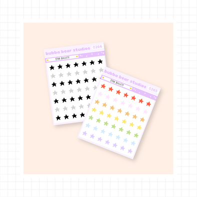 Star Bullets - Mini Sheet