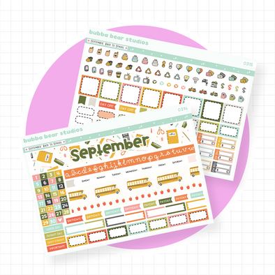 September - Back To School - PP Weeks