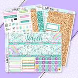 March Monthly Kit - Rainbow Sparkle