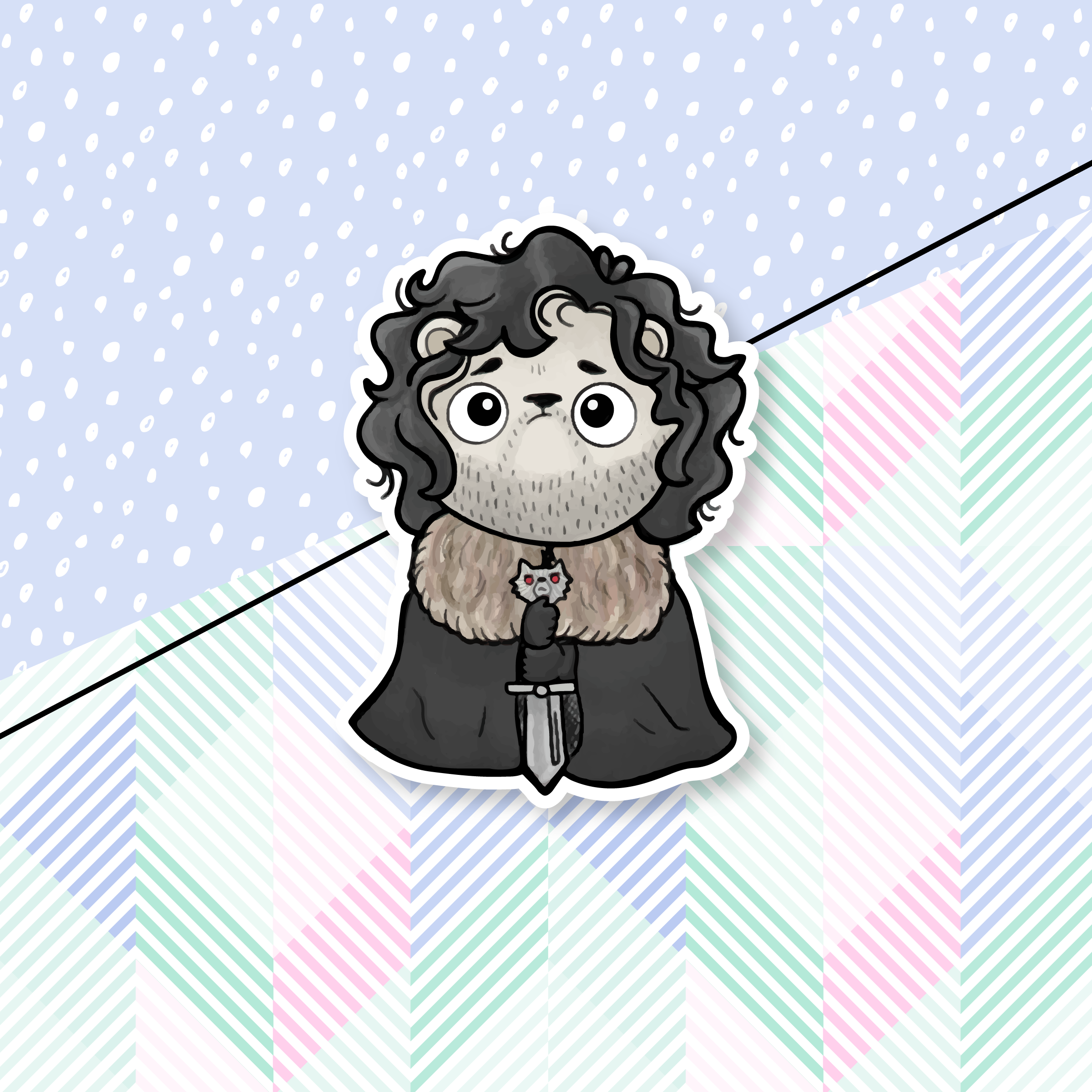 Jon Snow Bear Die Cut