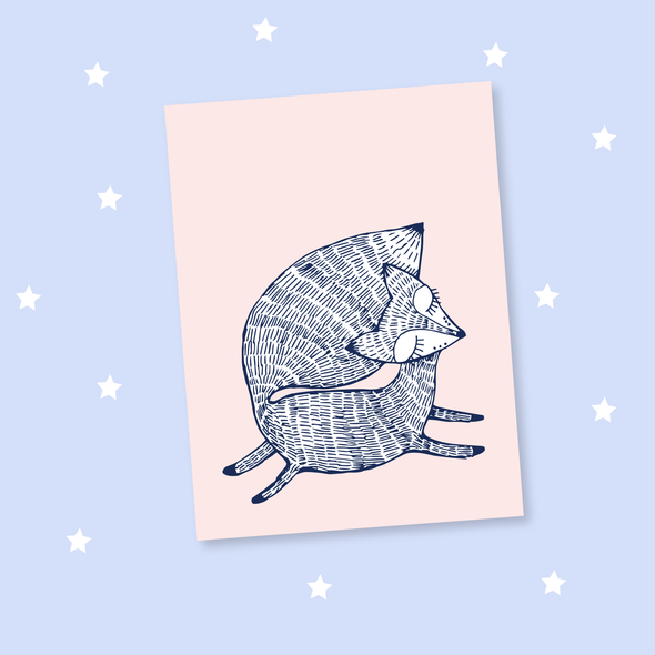 Stay Foxy Doodle Card