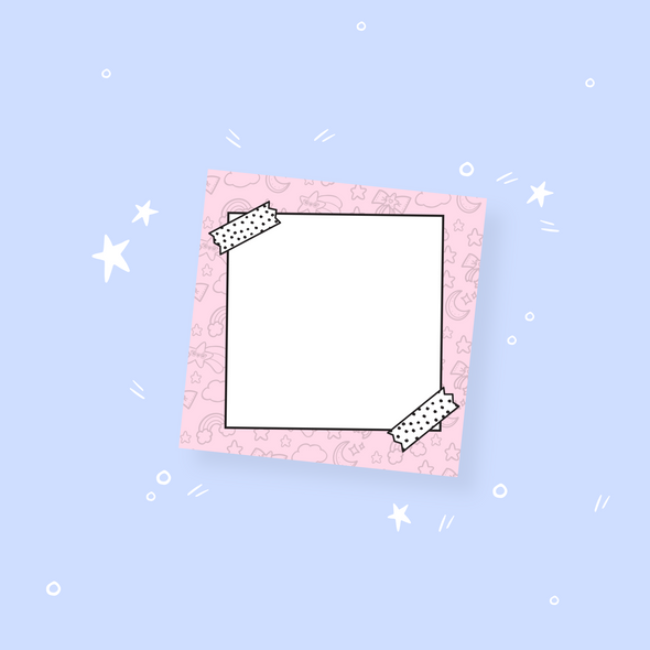 Starry Pink Sticky Notepad
