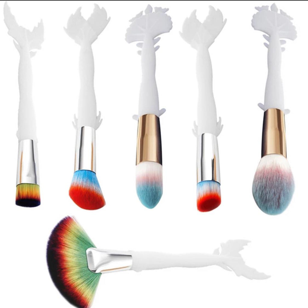 HAUTE SUMMER MERMAID Makeup Brushes  (FREE when you spend $50) - Belladonna's Cupboard Makeup For Crazy B!tches