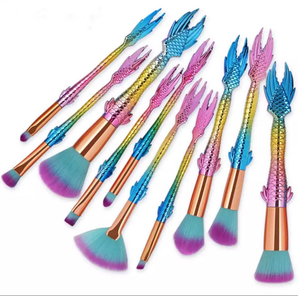MERMAID PARTY Makeup Brushes  (FREE when you spend $50) - Belladonna's Cupboard Makeup For Crazy B!tches