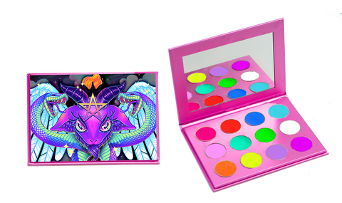 The Baphomet Palette: ELECTRIFIED - Belladonna's Cupboard Makeup For Crazy B!tches