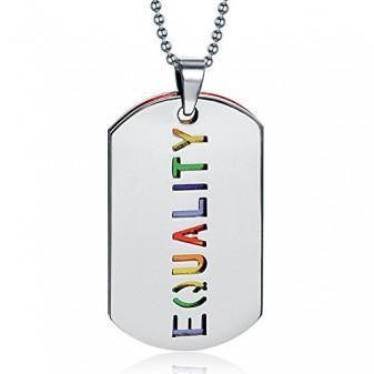 LGBT PRIDE RAINBOW TAG NECKLACE
