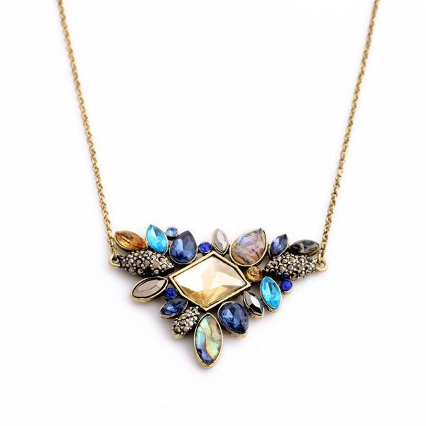 Exquisite Colors Rhinestone Pendant Necklace