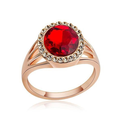 Rose Gold Plated Austrian Crystal Ring