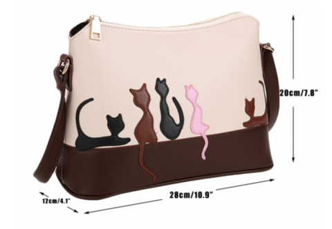 STYLISH FIVE KITTENS CROSSBODY BAG - LIMITED EDITION