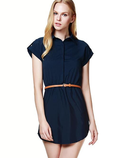 Womens dress summer 2016 A-Line solid Plus