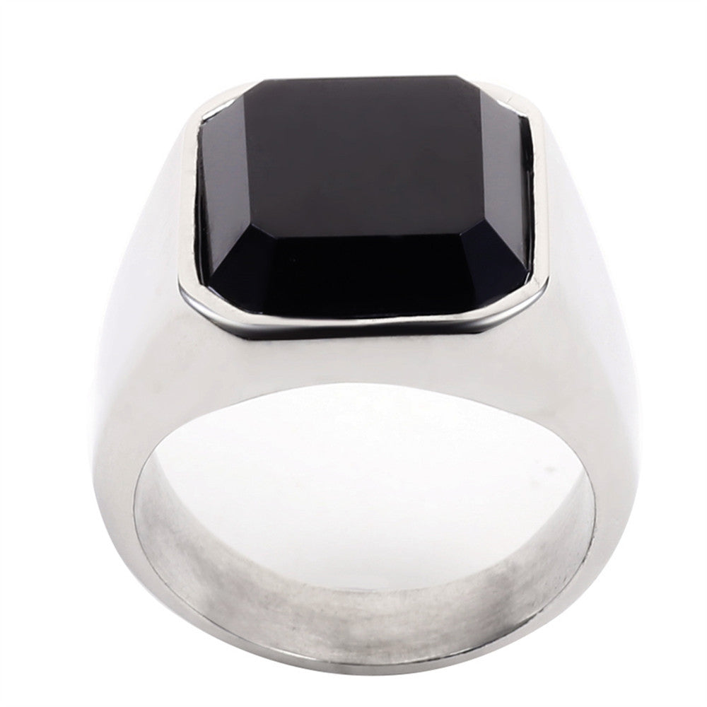 High Quality Men's Ring Black