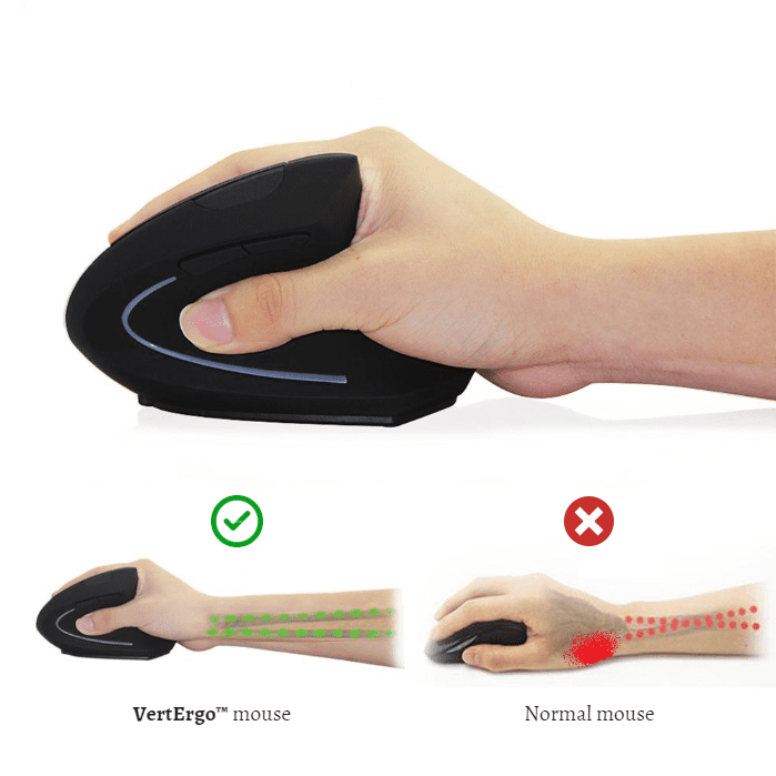 VertErgo™ Ergonomic Vertical Wireless Mouse