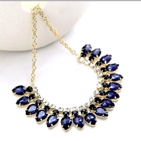 Fashion Necklaces Water Drop Gem Stone