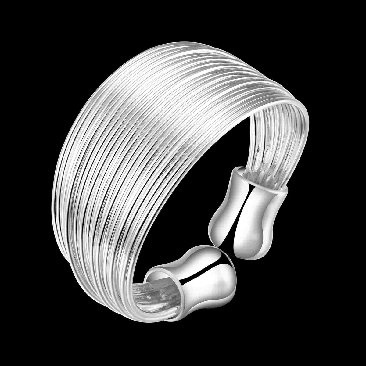 Silver Plated Rings Multi-line