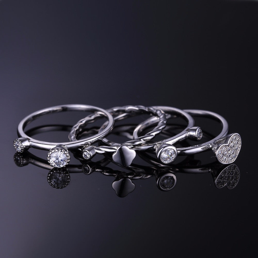 Jewelry Palace Heart Love 4 Pcs